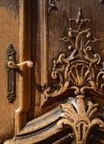 Ornate Wooden Door Royalty Free Stock Photos