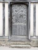 Ornate Wooden Door Stock Photography