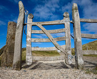 Ornate Wooden Gate Stock Image