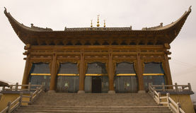 Ornate Wooden Mosque Lanzhou Gansu Province China Stock Photos