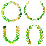 Ornate wreath set Royalty Free Stock Images