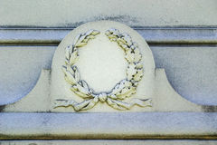 Ornate Wreath on Tombstone Stock Images