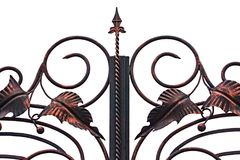 Free Ornate Wrought-iron Elements Of Metal Gate Decoration Stock Photos - 122184423
