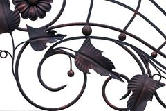 Free Ornate Wrought-iron Elements Of Metal Gate Decoration Royalty Free Stock Photo - 122184425