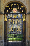 Ornate wrought iron gates, Oxford Royalty Free Stock Images