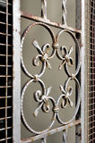 Ornate wrought iron grate Stock Image