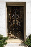 Ornate Wrought Iron Metal Doorway Royalty Free Stock Photo
