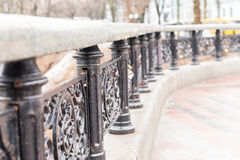 Ornate wrought iron railings Royalty Free Stock Photography