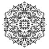 Ornate zentangle mandala. Royalty Free Stock Photos