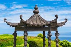 Ornateddak van Aziatisch-stijlpaviljoen, alkoof royalty-vrije stock foto's