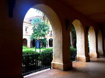 Ornately carved archways in Balboa Park. Ornately carved stone archways in Balboa Park, San Diego, California stock photography