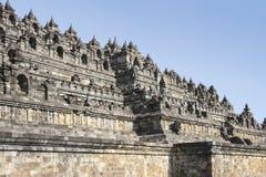 Borobudur ostrosłupa świątynia izoluje Java Zdjęcie Royalty Free