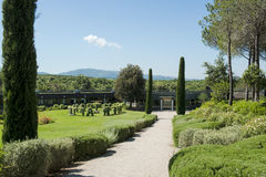 Winery Ornellaia - park and building Royalty Free Stock Image