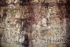 Ornement à l'intérieur d'Angkor Vat Photos libres de droits