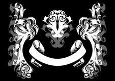 Ornement abstrait dans les couleurs blanches et grises Illustration Stock