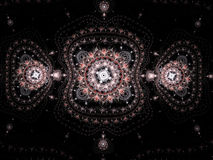 Ornement abstrait de filigrane de fractale vers l'est Photos stock