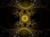 Ornement abstrait de filigrane de fractale vers l'est Photo libre de droits
