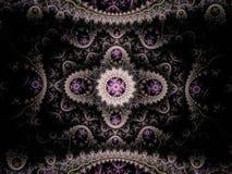 Ornement abstrait de filigrane de fractale vers l'est Photographie stock libre de droits