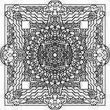 Ornement abstrait de mandala Configuration asiatique Photographie stock