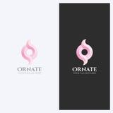 Ornement abstrait, forme Logo Design Template de remous Thème élégant d'entreprise d'affaires Cosmétiques, épousant le concept Image stock