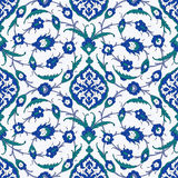 Ornement arabe traditionnel sans couture pour votre conception Papier peint de bureau Fond Iznik illustration stock