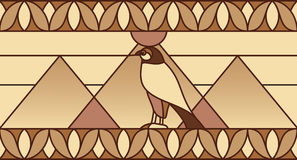 Ornement avec des symboles égyptiens Photos stock