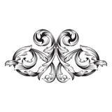 Ornement baroque de rouleau de gravure de cadre de vintage Photo stock