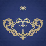 Ornement baroque de vecteur dans le style victorien Photographie stock libre de droits