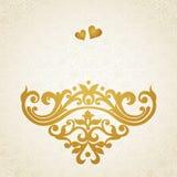 Ornement baroque de vecteur dans le style victorien Image libre de droits