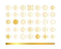 Ornement beige circulaire ethnique tiré par la main illustration de vecteur