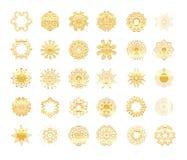 Ornement beige circulaire ethnique tiré par la main illustration stock