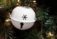 Ornement blanc de Noël de Bell Image libre de droits