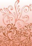 Ornement blanc, rose et rouge Photo libre de droits