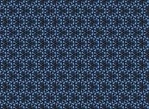 Ornement bleu d'abrégé sur fleur à un arrière-plan foncé photo stock