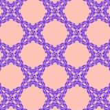 Ornement bleu sur un fond rose illustration stock