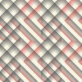 Ornement britannique de plaid Ligne mince diagonale abstraite Art Patter Photographie stock