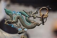 Ornement chinois de dragon Images libres de droits