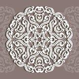 Ornement circulaire, coupe de laser Fond décoratif pour le GR illustration de vecteur
