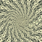 Ornement circulaire 100 dollars images libres de droits