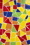 Ornement coloré cassé de décoration de tuile de mosaïque Photographie stock