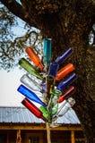 Ornement coloré d'arbre de bouteille en verre Photographie stock libre de droits
