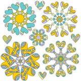 ornement coloré de coeur de ramassage Image stock