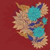 Ornement coloré de fleur Photographie stock libre de droits