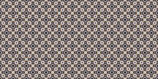 Ornement coloré de fonte en pente de rectangle pour la conception et les milieux Sans couture seulement en haut et en bas Image stock