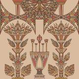Ornement coloré de l'Egypte Vecteur de vintage Photographie stock
