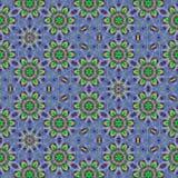 Ornement continu décoratif dans le bleu et la sarcelle d'hiver image stock