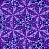 Ornement continu de kaléidoscope dans la couleur violette Photos stock