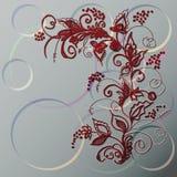 Ornement décoratif contre des cercles. Photographie stock libre de droits