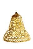 Ornement décoratif de cloche jaune pour l'arbre de Noël Image stock