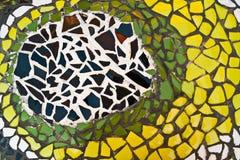 Ornement décoratif de mur de mosaïque Image libre de droits